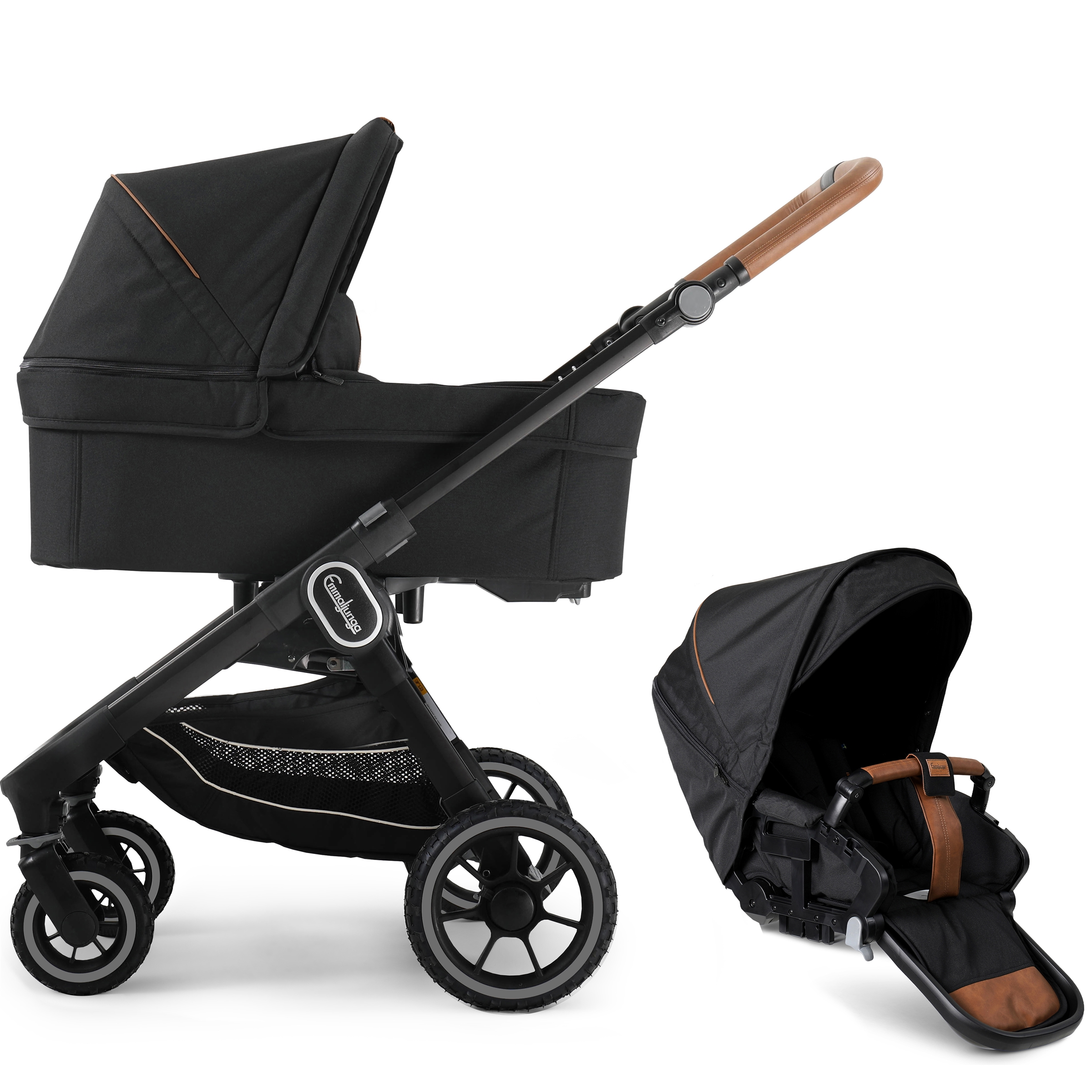 Emmaljunga NXT60 Black Outdoor F Duo Outdoor Black
