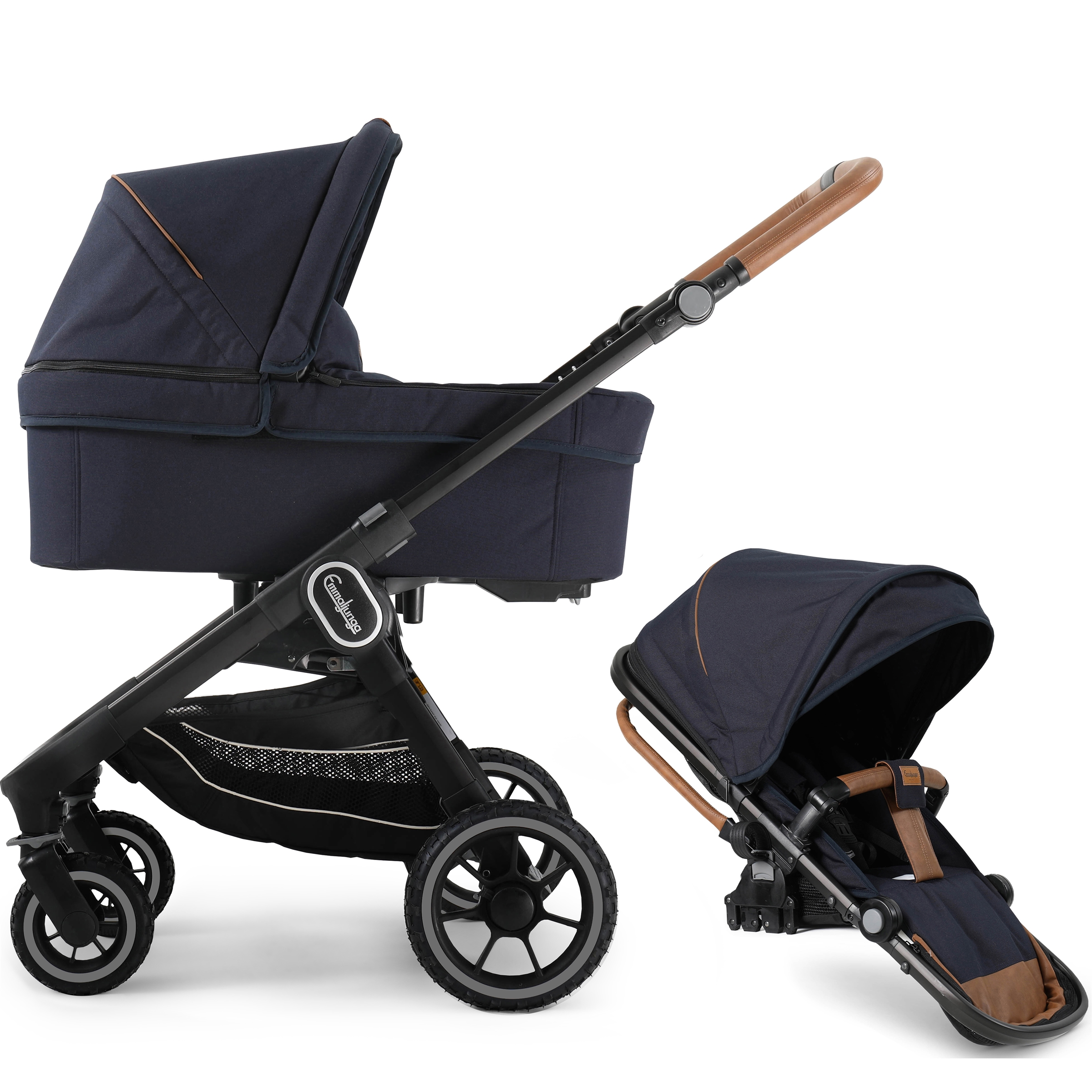 Emmaljunga NXT60 Black Outdoor Duo Outdoor Navy